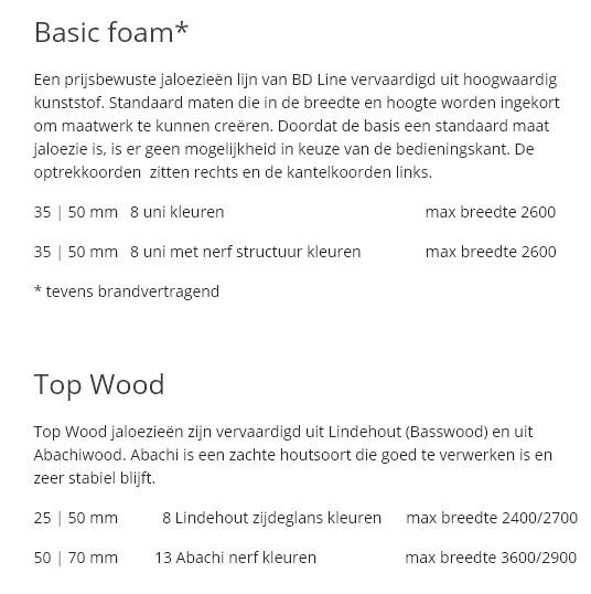 Basic foam e top wood