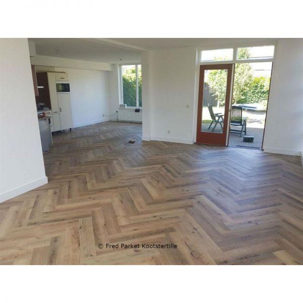 Floorlife - Yup Collection Dryback Herringbone Dark Oak