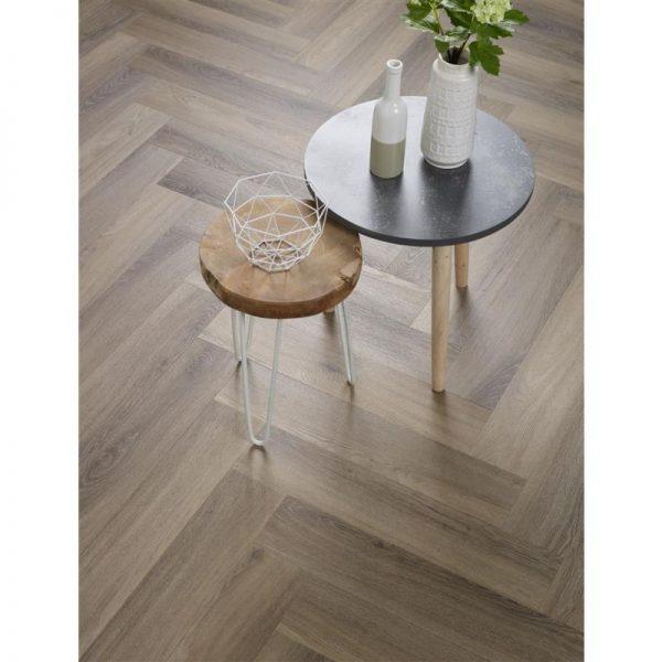 Floorlife - Yup Collection Dryback Herringbone Light Brown