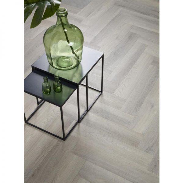 Floorlife - Yup Collection Dryback Herringbone Grey