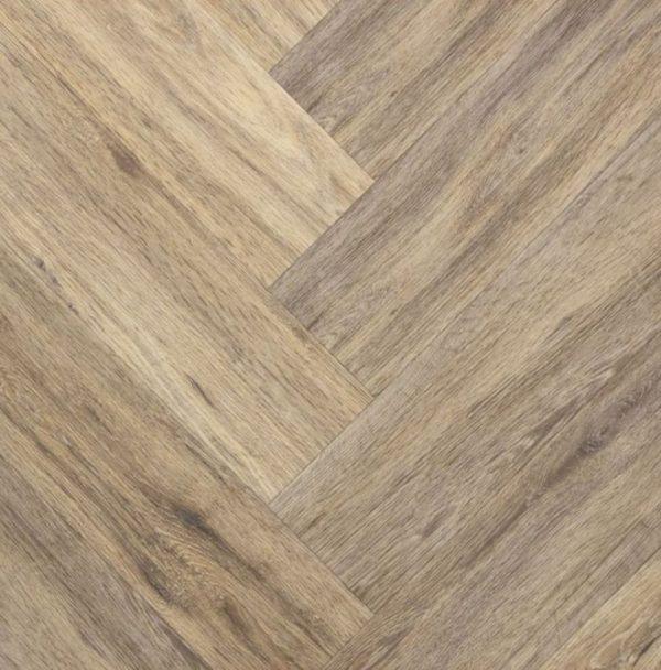 Trendy visgraat kaneel - PVC-plak